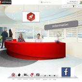 Eine virtuelle Messe mit Infotheke