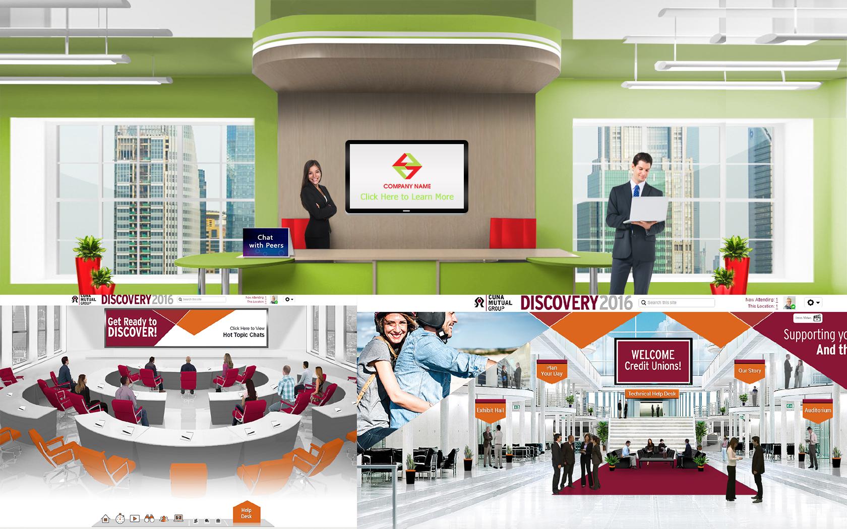 Modern reception at office 3D